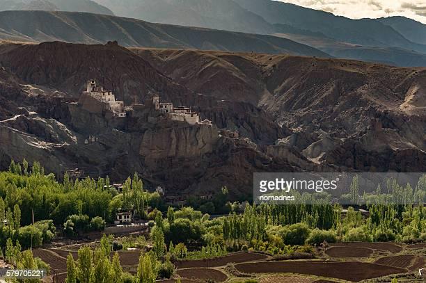 Basco monastery and small village  in Leh,India.