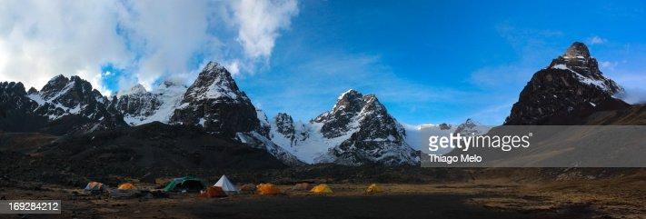Base Camp Condoriri Massif Panoramic View