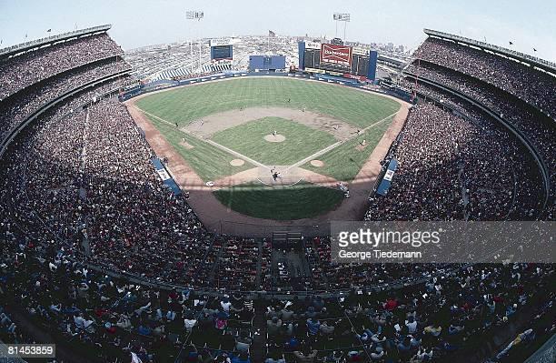 Baseball Aerial view of Shea Stadium during New York Mets vs Philadelphia Phillies opening day game Flushing NY 4/5/1983
