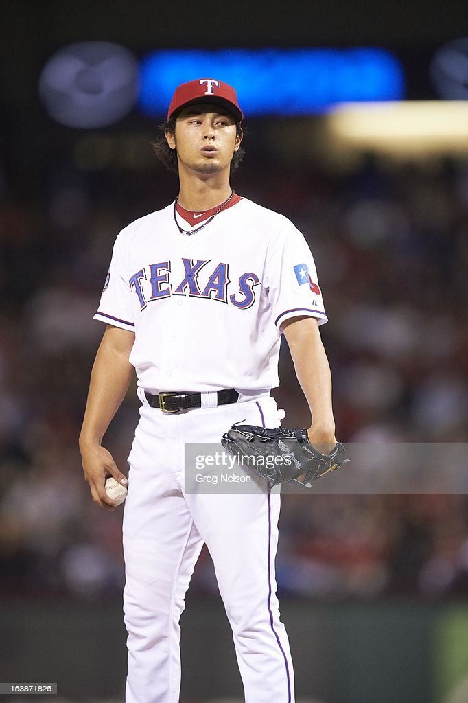 Texas Rangers Yu Darvish (11) during game vs Baltimore Orioles at Rangers Ballpark. Greg Nelson F210 )