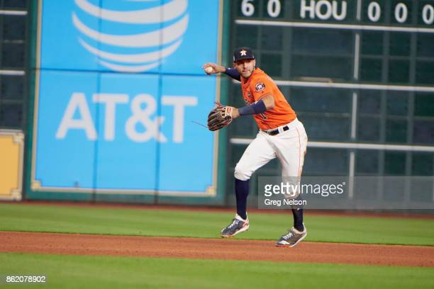 ALCS Playoffs Houston Astros Carlos Correa in action fielding vs New York Yankees at Minute Maid Park Game 1 Houston TX CREDIT Greg Nelson