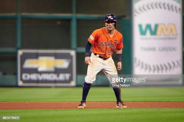 ALCS Playoffs Houston Astros Jose Altuve during game vs New York Yankees at Minute Maid Park Game 1 Houston TX CREDIT Greg Nelson
