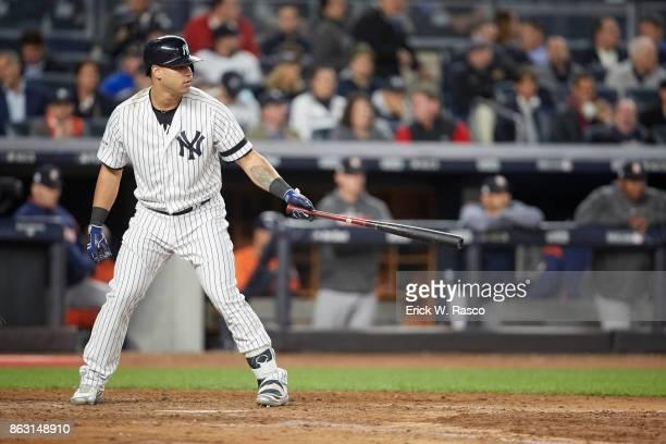 ALCS Playoffs New York Yankees Gary Sanchez during at bat vs Houston Astros at Yankee Stadium Game 4 Bronx NY CREDIT Erick W Rasco