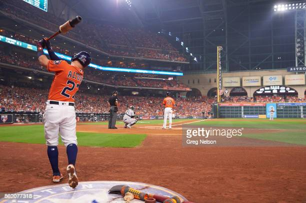 ALCS Playoffs Rear view of Houston Astros Jose Altuve on deck during game vs New York Yankees at Minute Maid Park Game 1 Houston TX CREDIT Greg Nelson