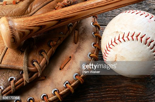 Baseball and Baseball Glove : Stock Photo