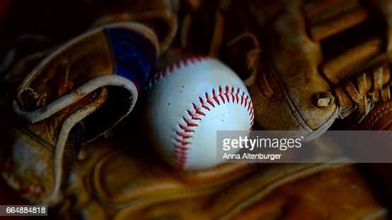 Baseball and baseball gloves. : Stock Photo
