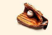 Baseball and catchers glove