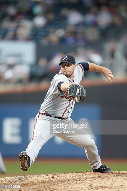 Atlanta Braves Billy Wagner in action pitching vs New York Mets Flushing neighborhood of the Queens borough of New York City 9/18/2010 CREDIT Chuck...