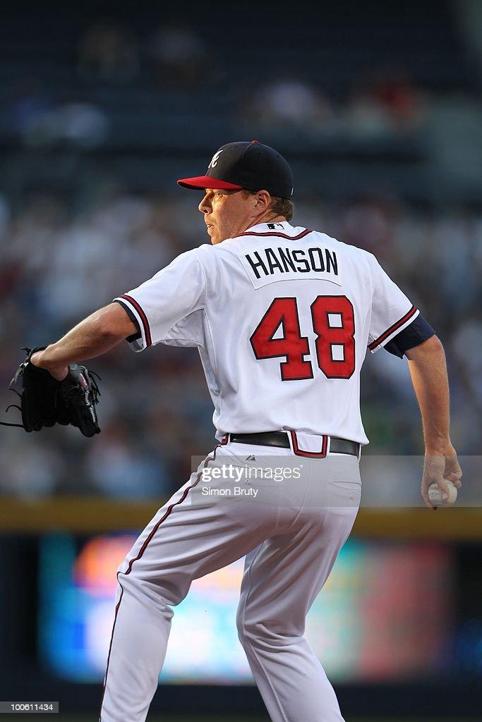 Atlanta Braves Tommy Hanson (48) in action, pitching vs Chicago Cubs. Atlanta, GA 4/8/2010