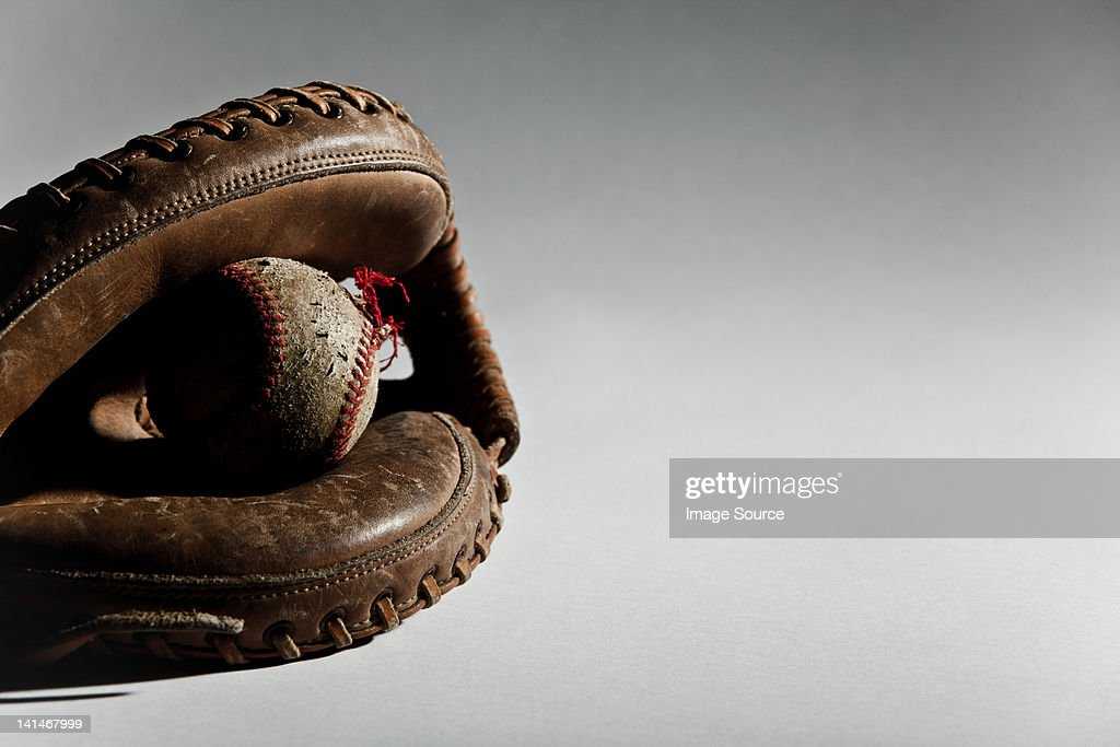 Baseball ball in glove