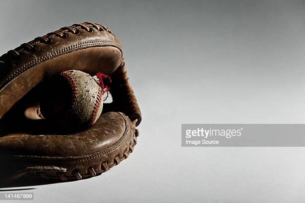 Baseball ball in glove