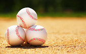 Baseball. Balls on Field. Sport