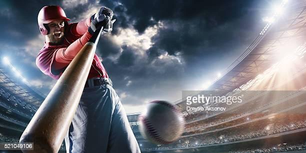 Baseball batter on stadium