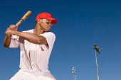 Baseball Batter Preparing to Hit Ball