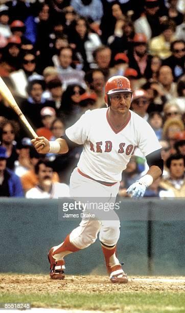 Boston Red Sox Carl Yastrzemski in action at bat during game Boston MA 4/7/197010/2/1983 CREDIT James Drake