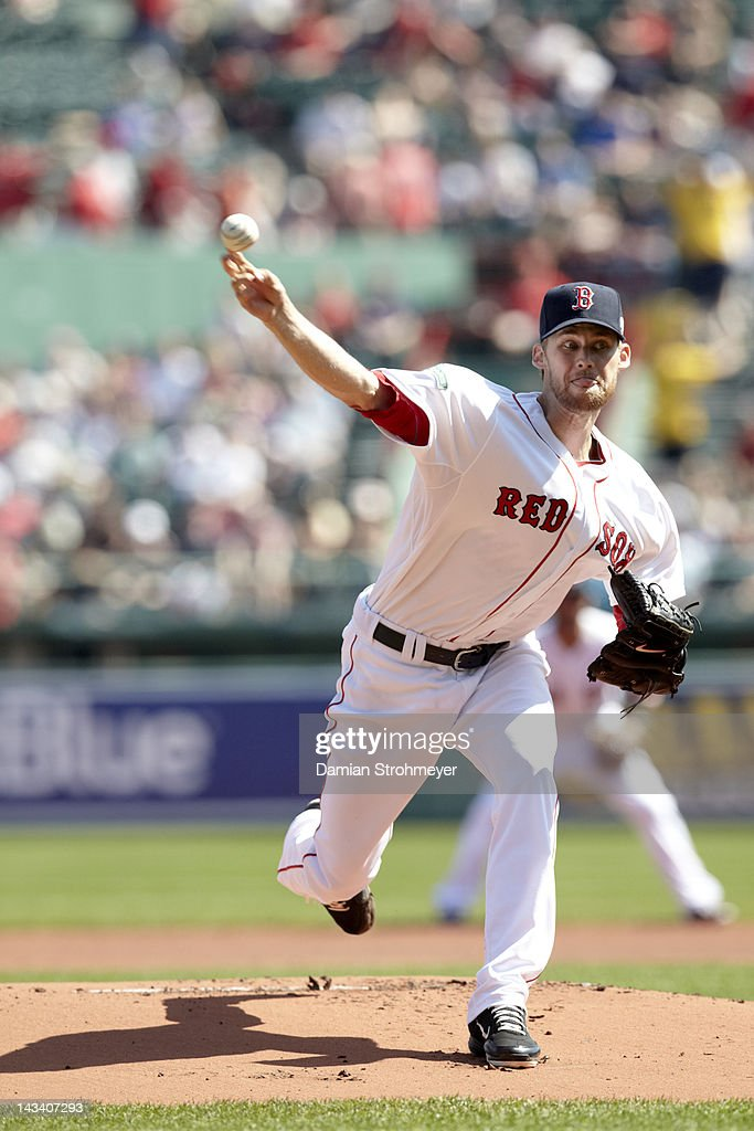 Boston Red Sox <a gi-track='captionPersonalityLinkClicked' href=/galleries/search?phrase=Daniel+Bard&family=editorial&specificpeople=550283 ng-click='$event.stopPropagation()'>Daniel Bard</a> (51) in action, pitching vs Tampa Bay Rays at Fenway Park. Boston, MA 4/16/2012