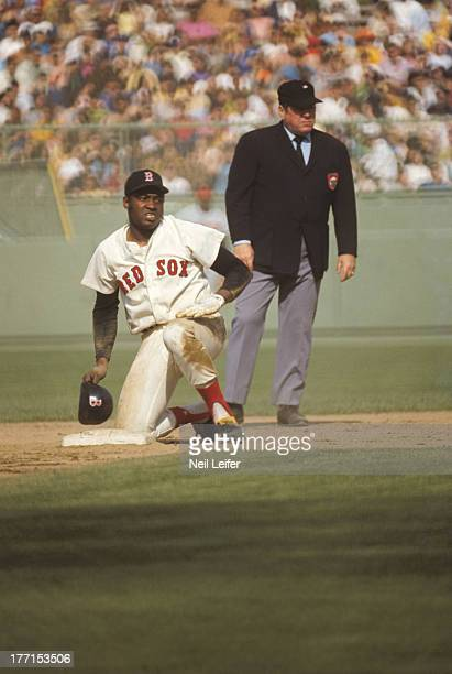 Boston Red Sox George Scott in action during game vs Baltimore Orioles at Fenway Park Boston MA CREDIT Neil Leifer