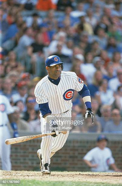 Chicago Cubs Sammy Sosa in action at bat vs Houston Astros at Wrigley Field Chicago IL CREDIT David E Klutho