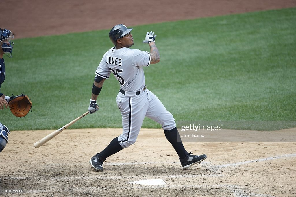 Chicago White Sox Andruw Jones (25) in action, at bat vs New York Yankees. Bronx, NY 5/2/2010