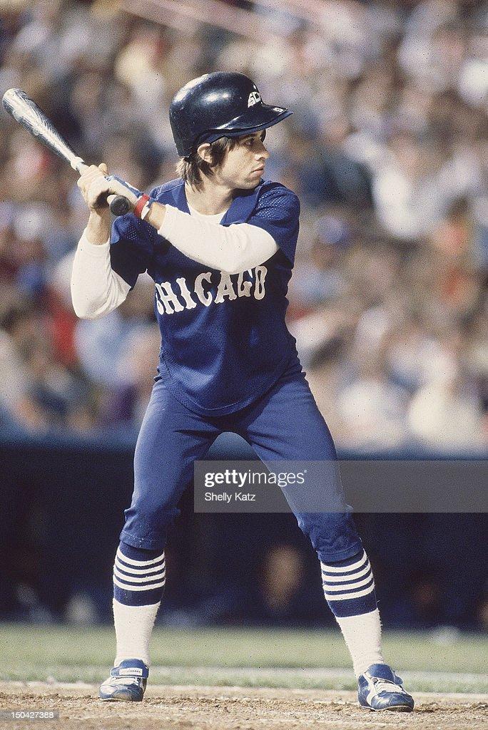 Chicago White Sox Harry Chappas in action at bat vs Texas Rangers at Arlington Stadium Arlington TX CREDIT Shelly Katz