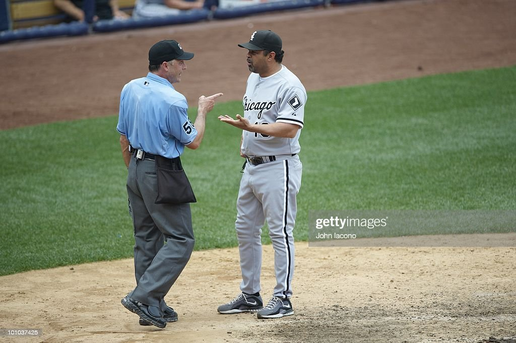 Chicago White Sox manager Ozzie Guillen during game vs New York Yankees. Bronx, NY 5/2/2010