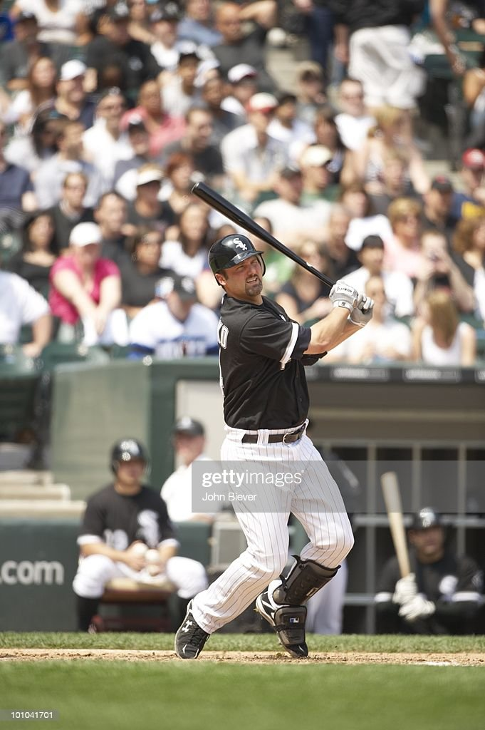 Chicago White Sox Paul Konerko (14) in action, at bat vs Florida Marlins. Chicago, IL 5/22/2010