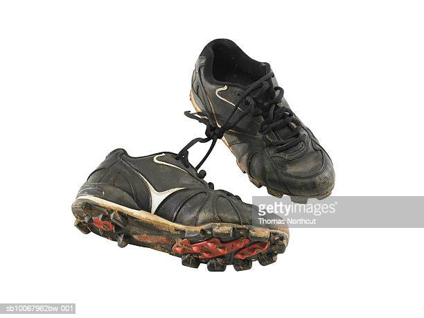 Baseball cleats on white background
