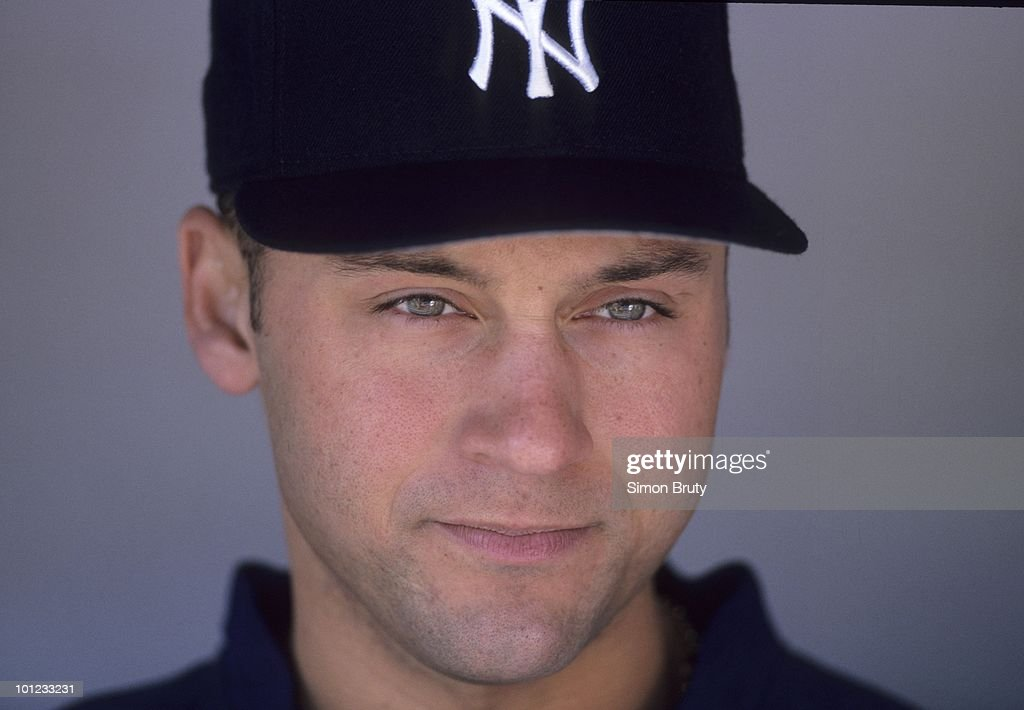 Closeup of New York Yankees Derek Jeter (2) before game vs Chicago White Sox. Bronx, NY 5/16/1999