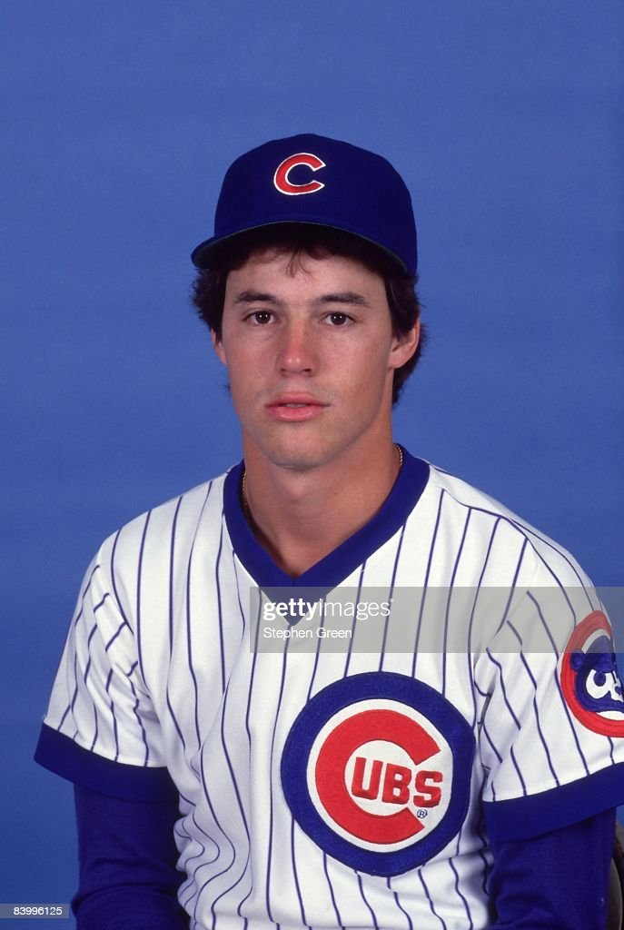 Closeup portrait of Chicago Cubs rookie Greg Maddux (31) during spring training. AZ 3/1/1987--3/31/1987