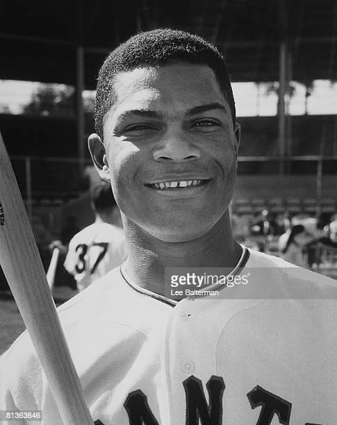 Baseball Closeup portrait of San Francisco Giants Felipe Alou during spring training Phoenix AZ 3/1/1961
