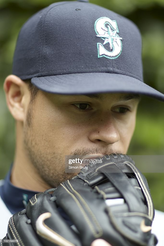 Closeup portrait of Seattle Mariners pitcher Ian Snell (35) during photo shoot at Camden Yards. Baltimore, MD 5/12/2010