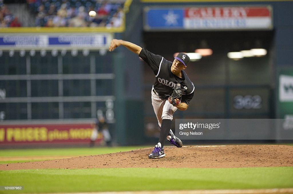 Colorado Rockies Ubaldo Jimenez (38) in action, pitching vs Houston Astros. Houston, TX 5/20/2010