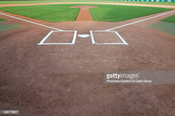 Baseball diamond and home plate