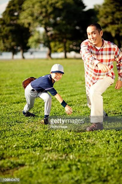 父と息子の野球
