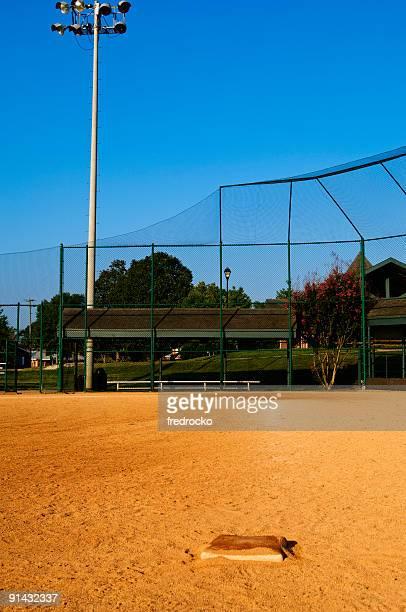 Baseball Field at a Baseball Game