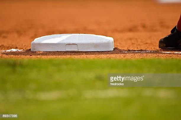 Baseball Field at Baseball Game with Baseball Player
