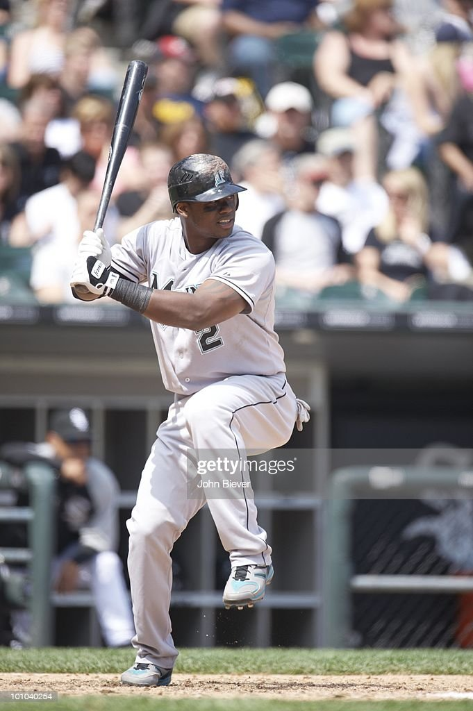 Florida Marlins Hanley Ramirez (2) in action, at bat vs Chicago White Sox. Chicago, IL 5/22/2010