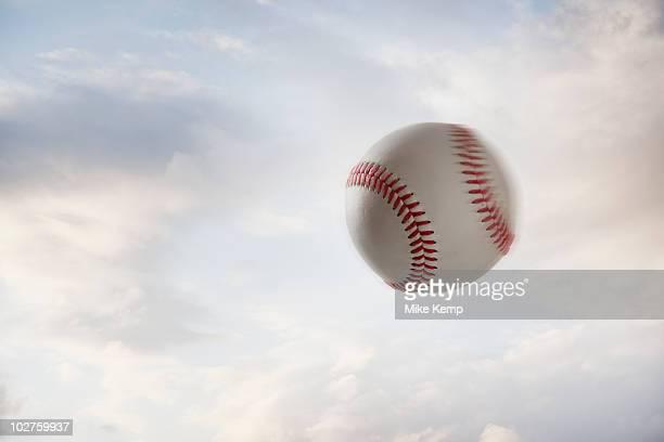 Baseball flying through the air