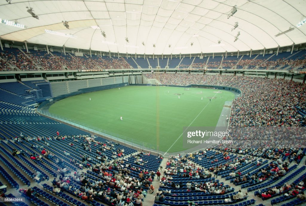 Baseball Game at Metrodome : Stock Photo