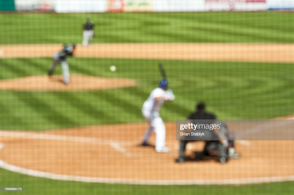 Baseball game, defocused : Stock Photo