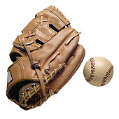 Baseball Glove and a Baseball