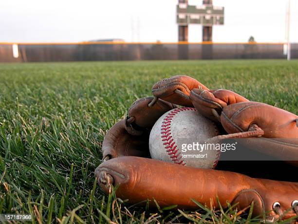 Baseball Glove in the Grass