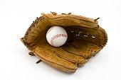 Baseball Glove Open with Ball