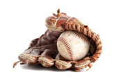 Baseball glove isolated over white
