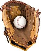 Baseball catcher equipment isolated on white background