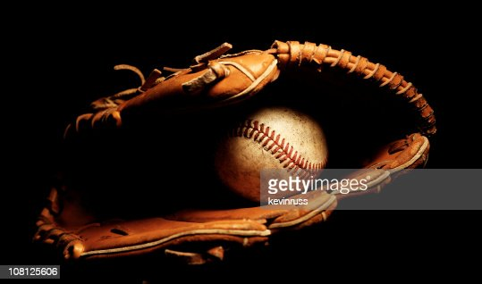 Baseball Glove with Ball : Stock Photo