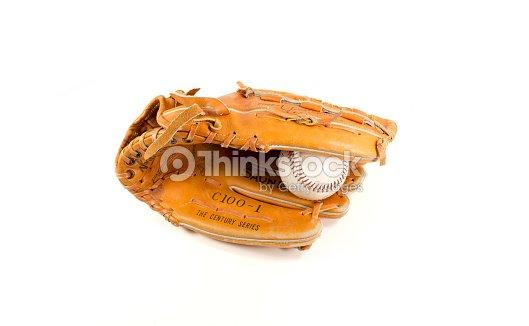 Baseball Glove with ball : Stock Photo