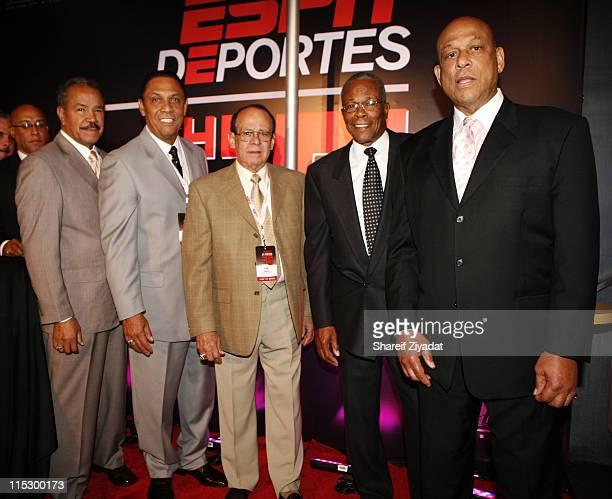 Baseball Hall of Famers Juan Marichal Tony Perez Luis Aparicio Rod Carew and Orlando Cepeda