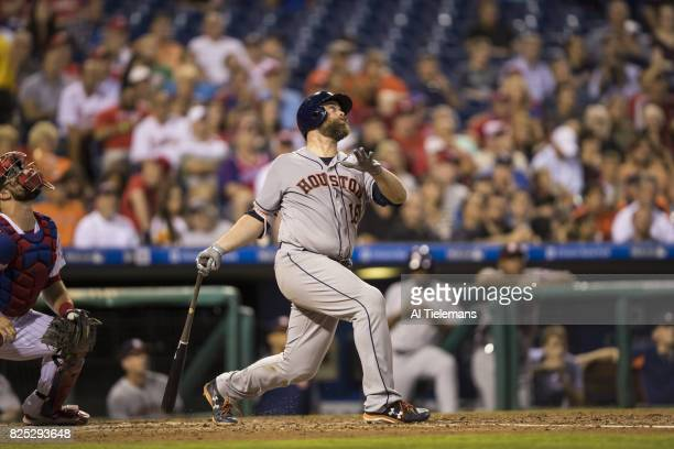 Houston Astros Brian McCann in action at bat vs Philadelphia Phillies at Citizens Bank Park Philadelphia PA CREDIT Al Tielemans