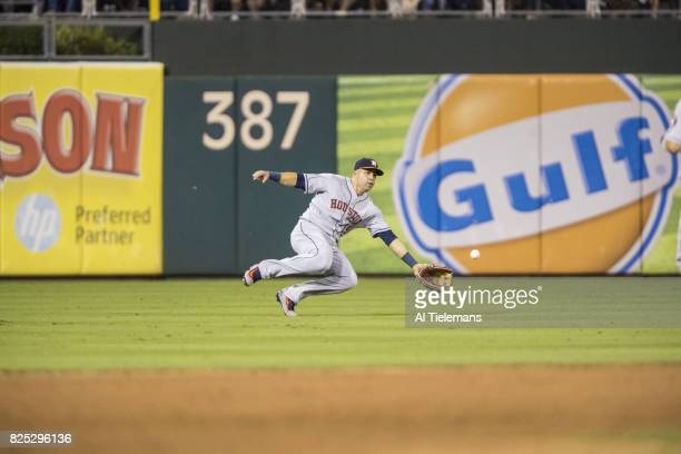 Houston Astros Carlos Beltran in action fielding vs Philadelphia Phillies at Citizens Bank Park Philadelphia PA CREDIT Al Tielemans